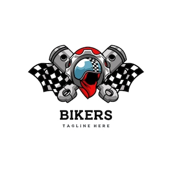 Biker club kask emblemat odznaka speed motor retro classic