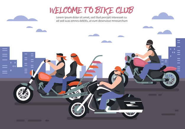 Biker club tło