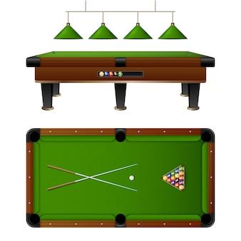 Bilardowy stół bilardowy i zestaw mebli