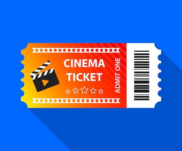 Bilet do kina bilet do kina ilustracja