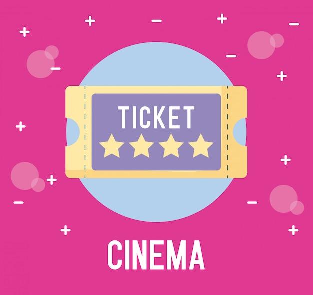 Bilet kina na białym tle