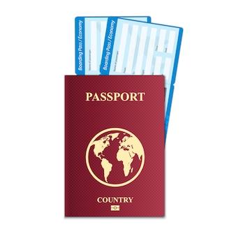 Bilet na kartę pokładową linii lotniczych na podróż samolotem.