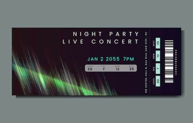 Bilet na koncert na żywo