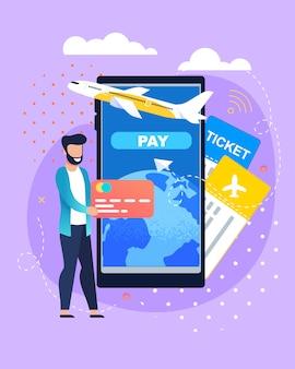 Bilet na rezerwacje online i płatna usługa płatnicza