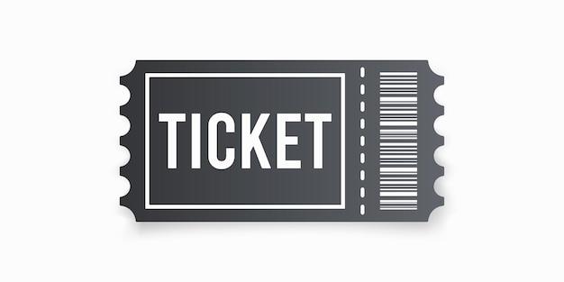 Bilet prosty płaski styl