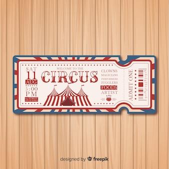 Bilet w stylu cyrkowym