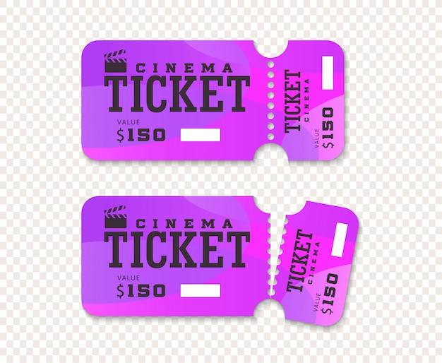 Bilety do kina całe i podarte.