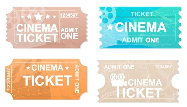 Bilety do kina na białym tle