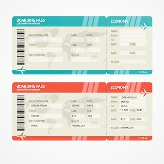 Bilety lotnicze. koncepcja podróży. na białym tle. baw się dobrze na wakacjach.