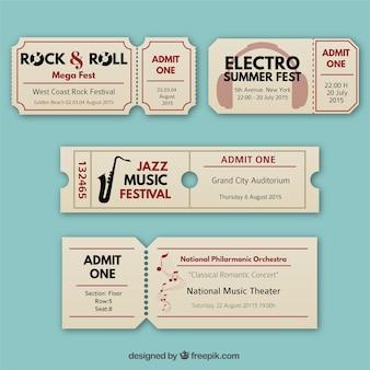 Bilety muzyka retro