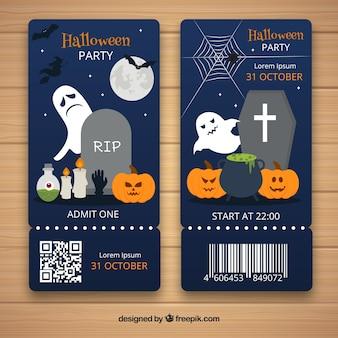 Bilety na halloween z elementami klasycznymi
