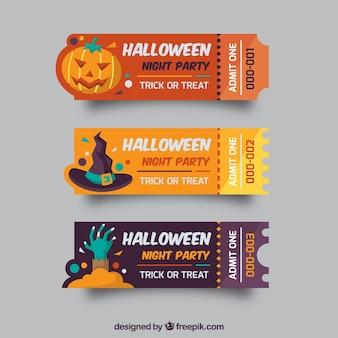 Bilety na halloween z oryginalnym stylem