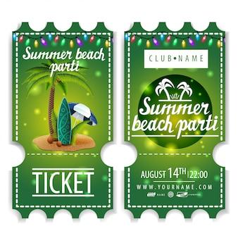 Bilety na letnią imprezę na plaży