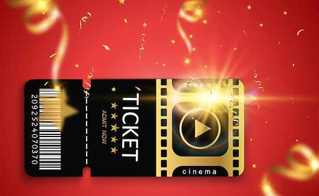 Bilety na wydarzenie lub film na przezroczystym tle piękne nowoczesne ulotki podróżnicze