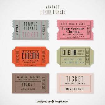 Bilety vintage kina