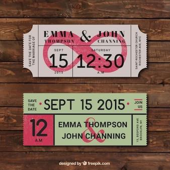 Bilety vintage ślubne