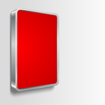 Billboard frame with red empty space