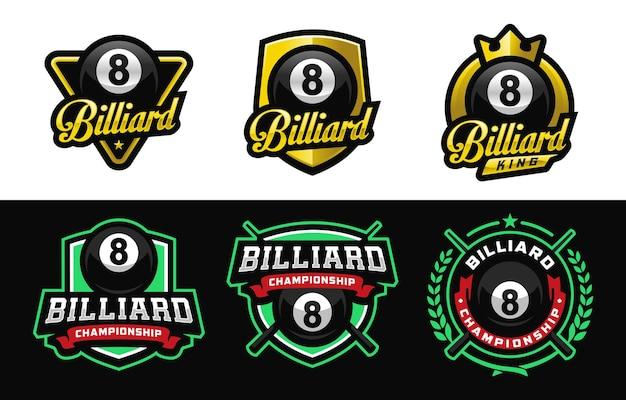 Billiard championship sport logo