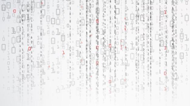 Binarne tło cyberprzestrzeni