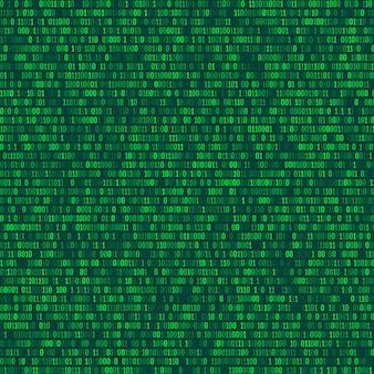 Binarny kod komputerowy powtarzające się tło wektor