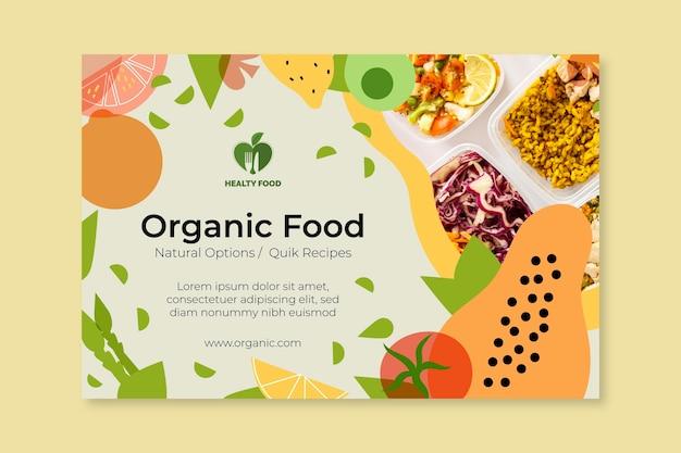 Bio i baner zdrowej żywności ze zdjęciem