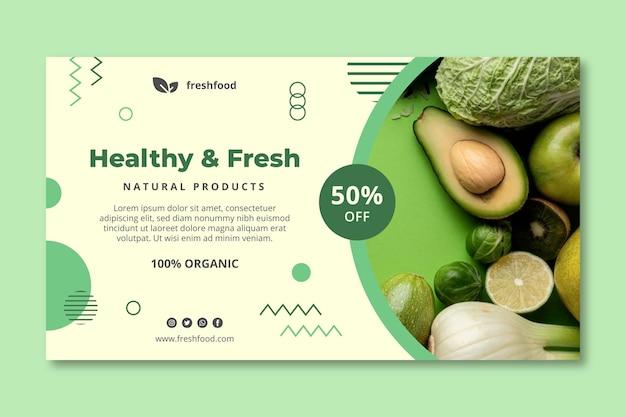 Bio i baner zdrowej żywności