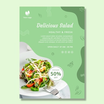 Bio i plakat zdrowej żywności