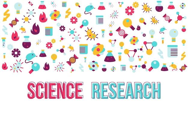 Biologia badania płaski transparent wektor szablon. naukowa ilustracja diagnostyczna z miejscem na tekst