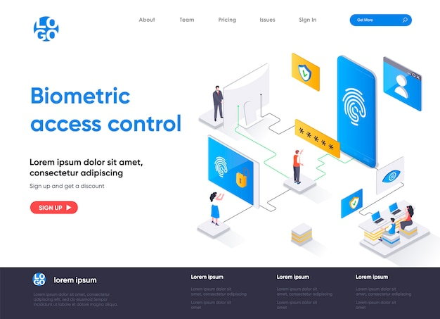 Biometryczna strona docelowa kontroli dostępu
