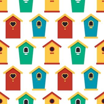 Birdhouses ładny wzór