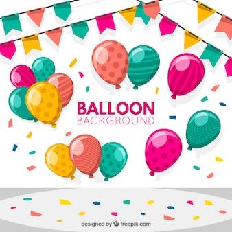 Birhtday balony tło dla uczczenia