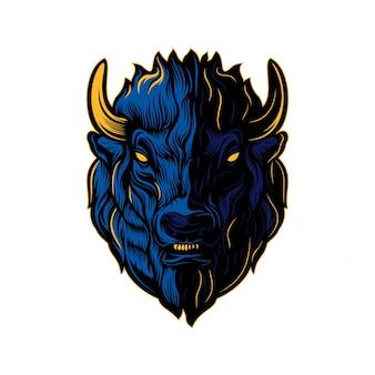 Bison head creative