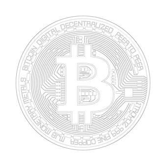 Bitcoin biały design