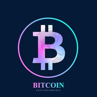 Bitcoin. fizyczna moneta bitowa. waluta cyfrowa bitcoin uszkadza światowy system finansowy.