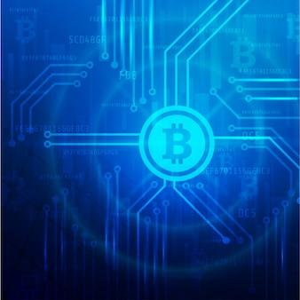 Bitcoin Mining Technology Banner Background Premium Wektorów