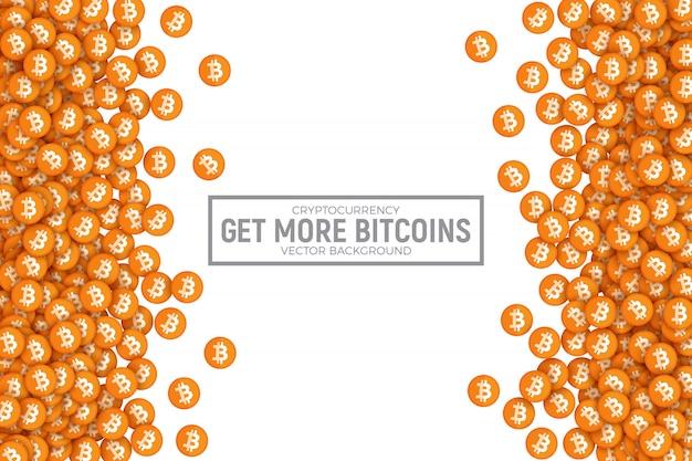 Bitcoin wektorowa abstrakcjonistyczna konceptualna ilustracja