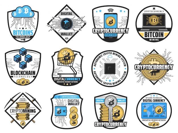 Bitcoinowa kryptowalutowa farma wydobywająca blockchain