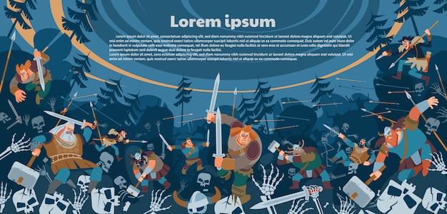 Bitwa między ludnością północną a uzbrojonymi poległymi.