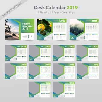 Biurko kalendarz 2019
