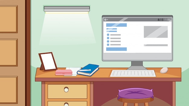 Biurko komputerowe w gabinecie