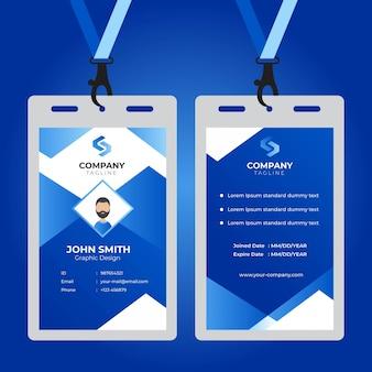 Biuro identyfikator karty nowoczesny prosty szablon korporacyjny projekt