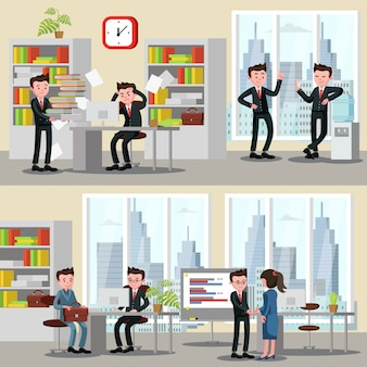 Biuro ludzie poziome banery