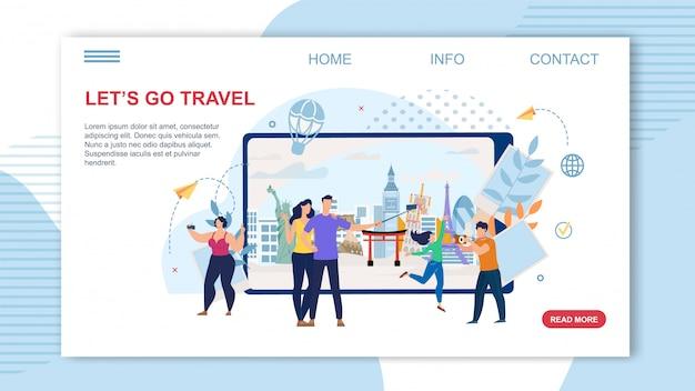 Biuro podróży online service płaska strona docelowa