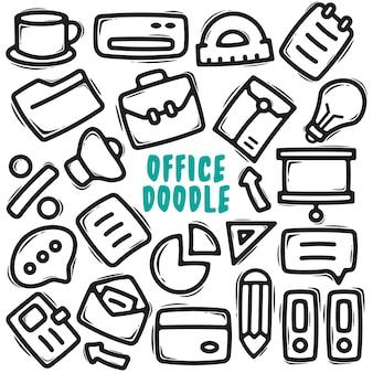 Biuro ręcznie rysowane element doodle