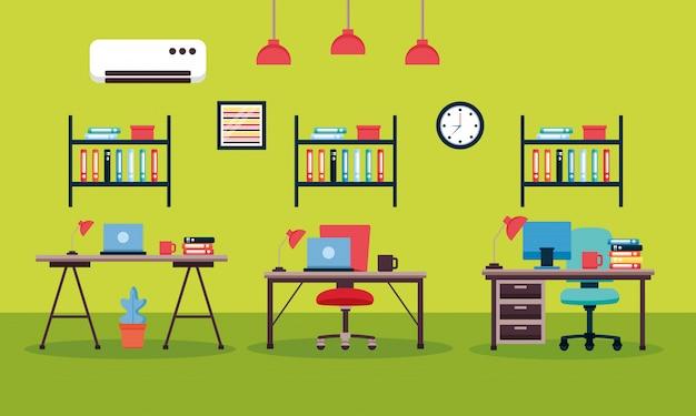 Biurowe wnętrze pracy