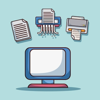 Biurowi elementy firmy informaci strategii wektoru ilustracja