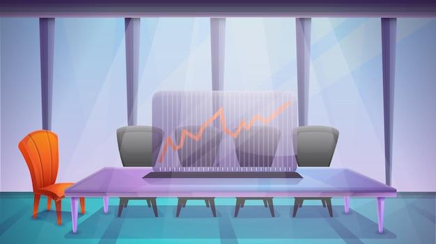 Biurowy pokój konferencyjny, wektorowa ilustracja