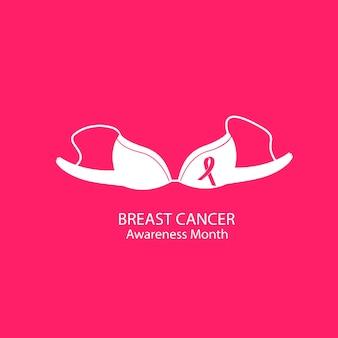 Biustonosz. bielizna damska. krajowa koncepcja miesiąca świadomości raka piersi.