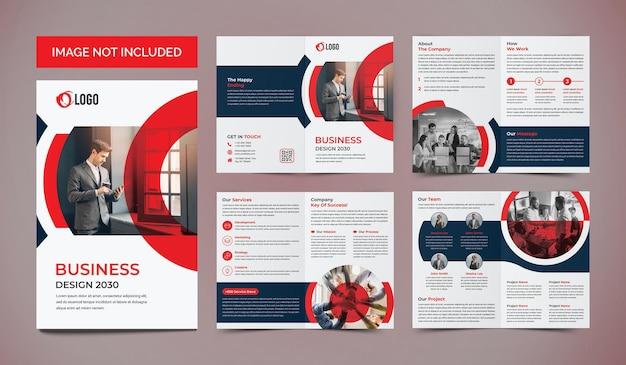 Biznes 8 stron broszura projekt