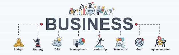 Biznes baner tkanina ikona dla biznesu i marketingu.